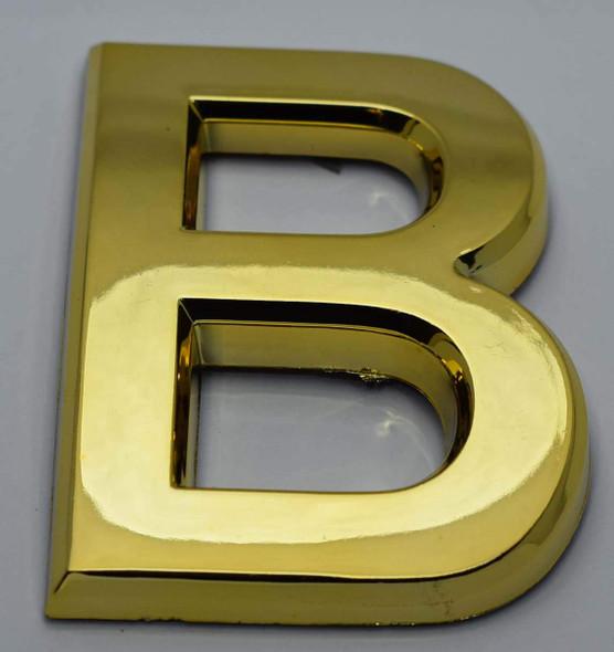 1 PCS - Apartment Number Sign/Mailbox Number Sign, Door Number Sign. Letter B Gold,