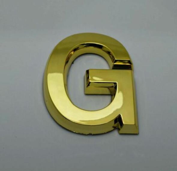 1 PCS - Apartment Number Sign/Mailbox Number Sign, Door Number Sign. Letter G Gold