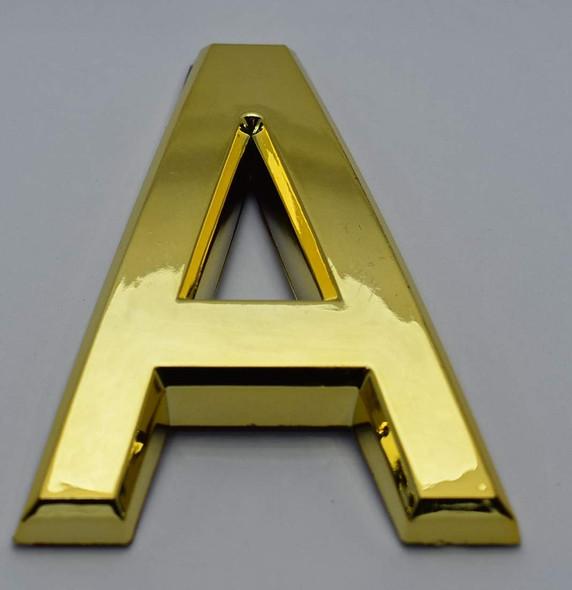 1 PCS - Apartment Number Sign/Mailbox Number Sign, Door Number Sign. Letter A Gold,