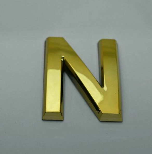 Apartment Number Letter N Gold