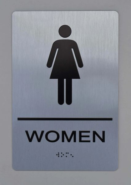 WOMEN Restroom Sign ADA SIGN