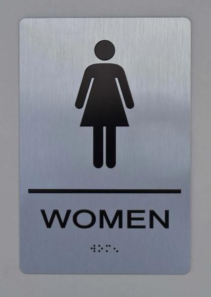 WOMEN Restroom Sign ADA Sign -Tactile Signs  The sensation line  Ada sign
