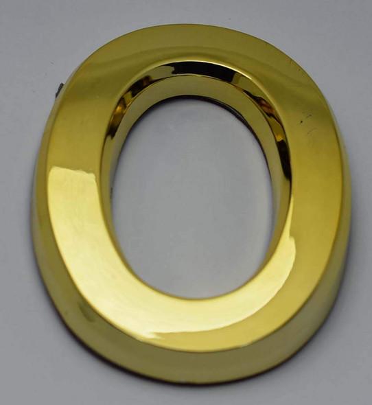 1 PCS - Apartment Number Sign/Mailbox Number Sign, Door Number Sign. Letter O Gold