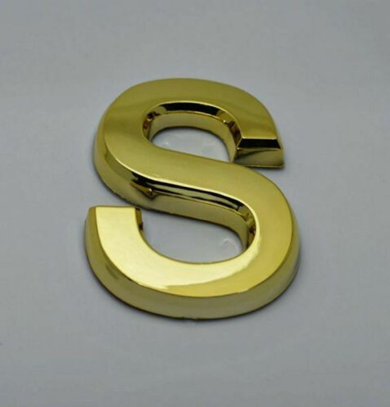 Apartment Number Letter S Gold