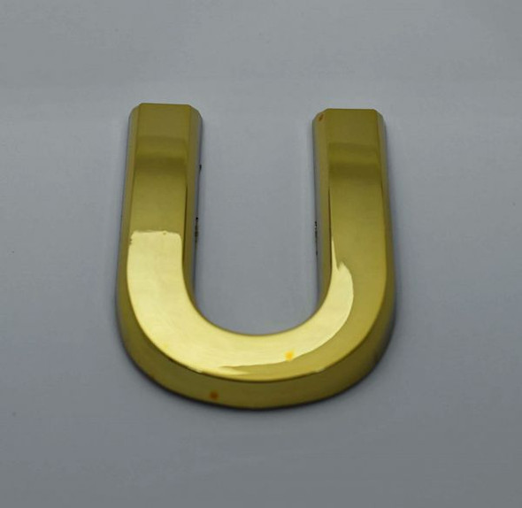 Apartment Number Letter U Gold
