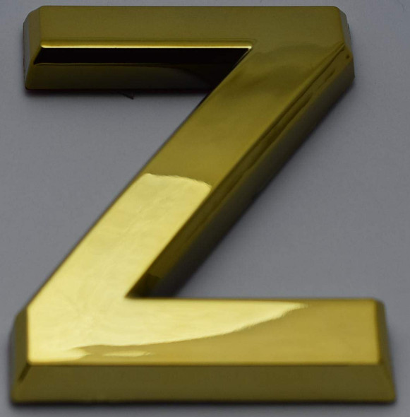 1 PCS - Apartment Number Sign/Mailbox Number Sign, Door Number Sign. Letter Z Gold (Gold, 3D, Size 2.75 x 1.75, Comes with Double Sided Tape)- The Maple line-ref0420