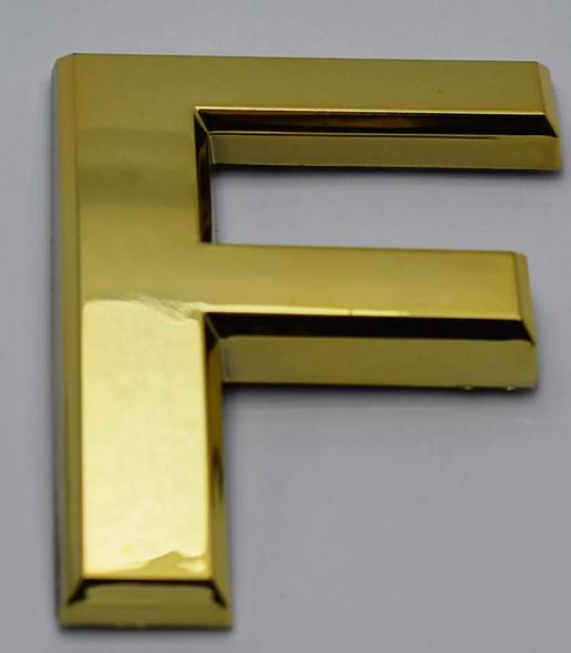1 PCS - Apartment Number Sign/Mailbox Number Sign, Door Number Sign. Letter F Gold