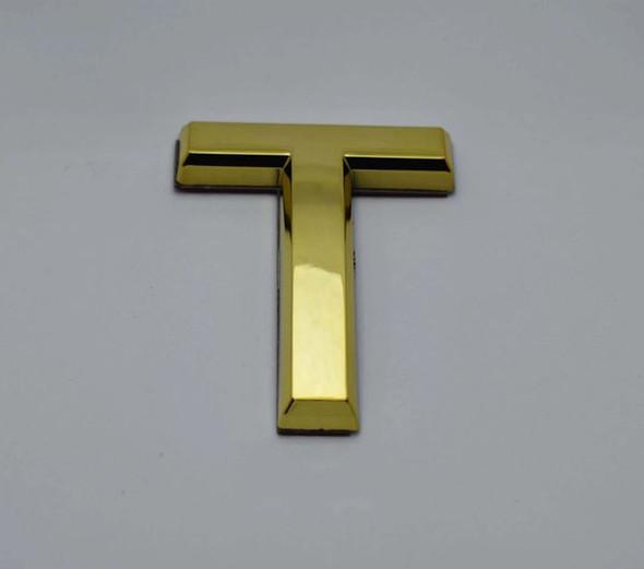 1 PCS - Apartment Number Sign/Mailbox Number Sign, Door Number Sign. Letter T Gold