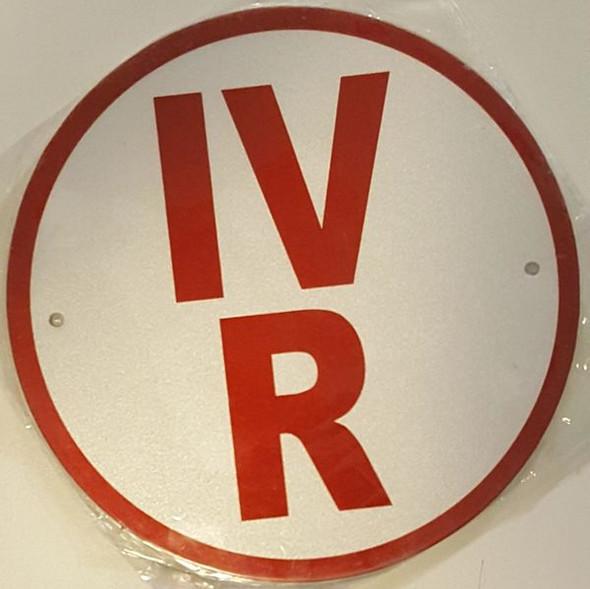 ROOF TRUSS IDENTIFICATION SIGNAGE-TYPE IV- REFLECTIVE !!! (ALUMINUM SIGNAGES) WHITE