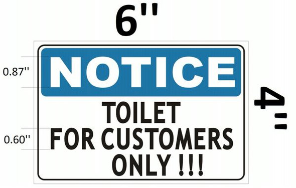 TOILET FOR CUSTOMERS SIGN for Building
