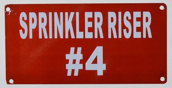 Sprinkler Riser #4 Sign nyc dob