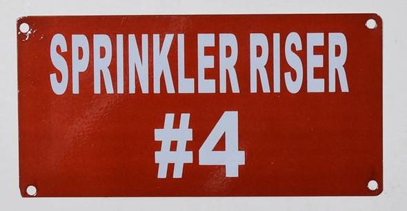 dob Sprinkler Riser #4 Sign
