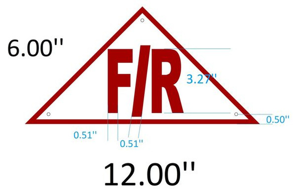 FLOOR AND ROOF TRUSS IDENTIFICATION SIGNAGE- REFLECTIVE !!! (ALUMINUM SIGNAGES )