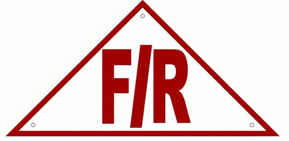 FLOOR AND ROOF TRUSS IDENTIFICATION SIGN- REFLECTIVE !!! (ALUMINUM SIGNS )