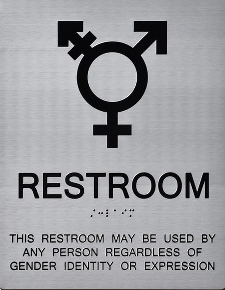 UNISEX ALL GENDER RESTROOM ADA SIGN Tactile Signs  Ada sign