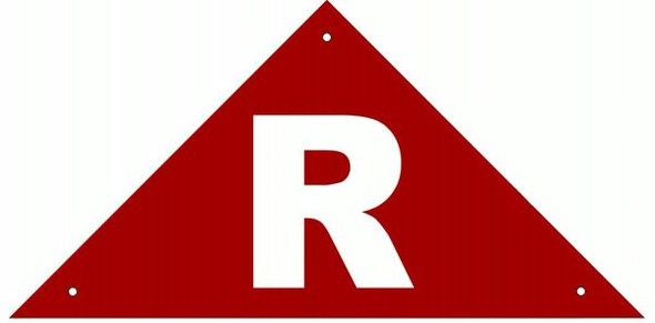 ROOF TRUSS IDENTIFICATION SIGN- REFLECTIVE !!! (ALUMINUM SIGNS ) (Red)