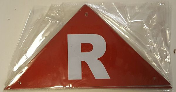 ROOF TRUSS IDENTIFICATION SIGNAGE- REFLECTIVE !!! (ALUMINUM SIGNAGES ) (Red)