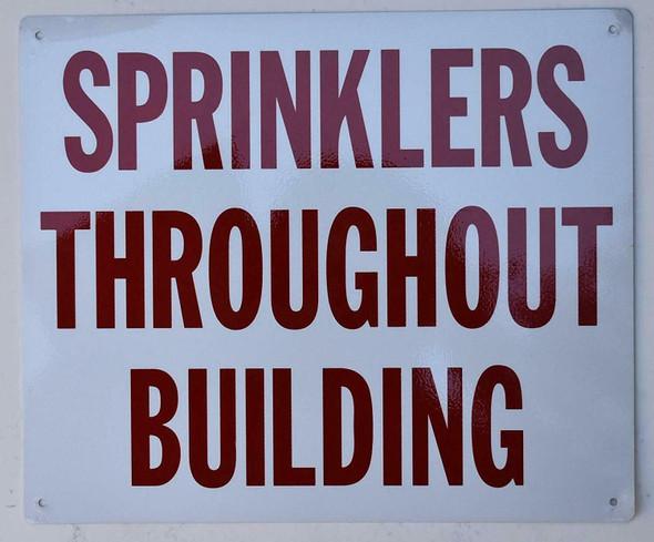 Sprinkler Throughout Building Signage