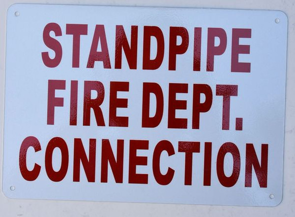 Standpipe FIRE Department Connection Sign