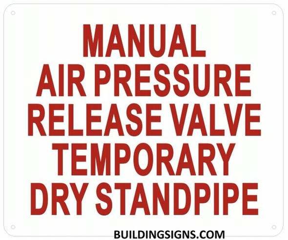 Manual AIR Release Valve for Temporary Standpipe Sign