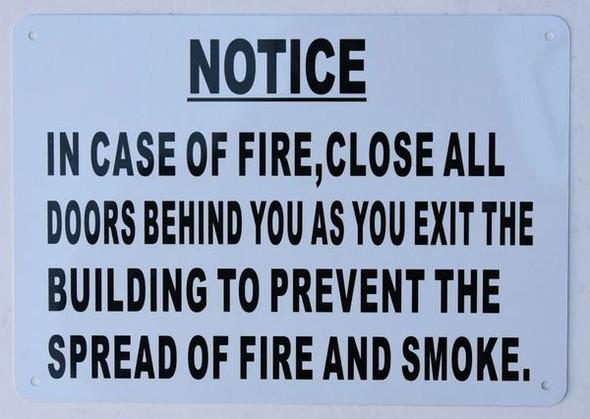 in CASE of FIRE Close All
