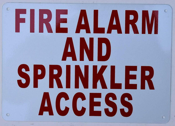 FIRE Alarm and Sprinkler Access Sign