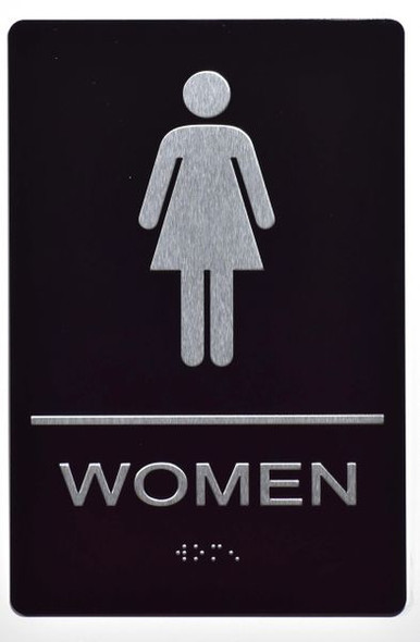 WOMEN Restroom Sign Tactile Signs Ada sign