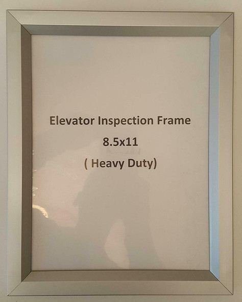 "Elevator Inspection Frame 8.5"" X 11"""