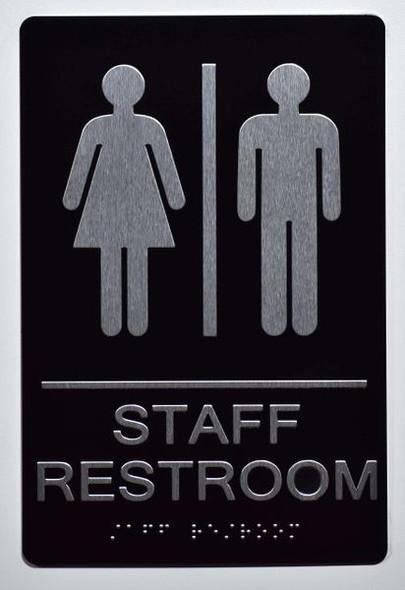 STAFF Restroom Sign ADA Tactile Signs   Ada sign