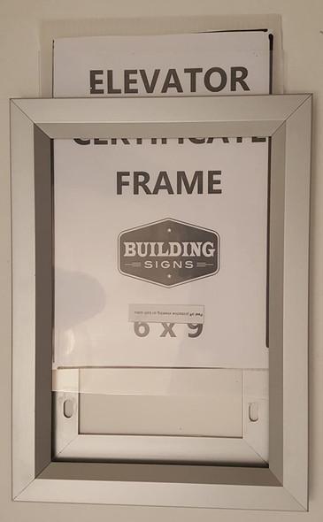 Elevator Inspection Certificate Frame 6 x 9