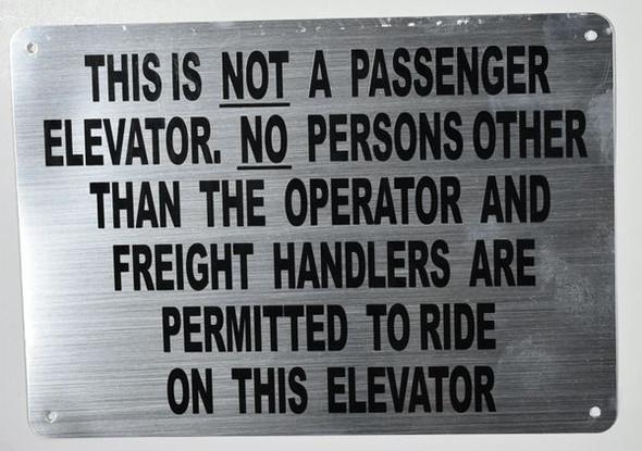 Freight Elevator SIGNAGE (Silver,Aluminium, )