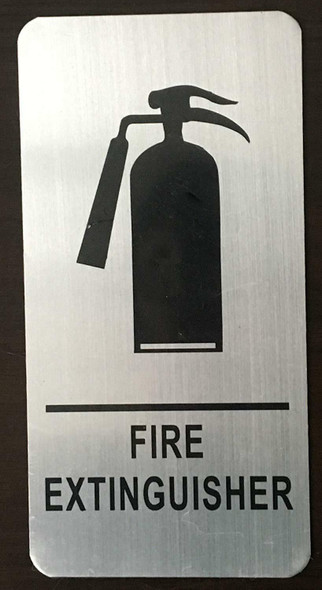 FIRE Extinguisher Sign Silver, 4X8-The Mont