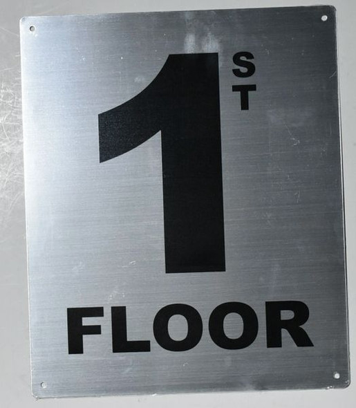 1ST Floor Sign Silver