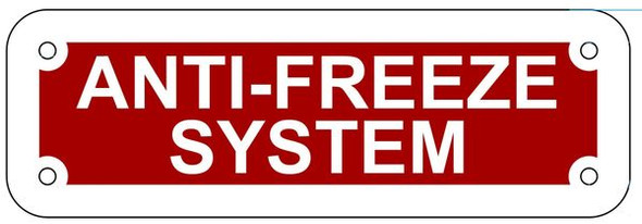 Anti-Freeze System Sign ,  !!,