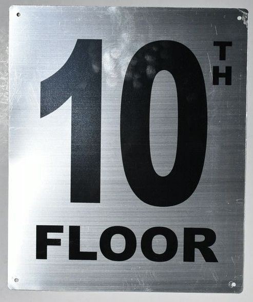 10TH Floor Sign