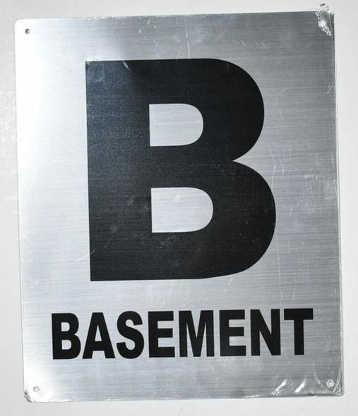 Basement Floor Number Sign