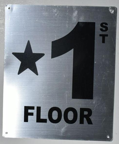 Star 1 Floor Sign