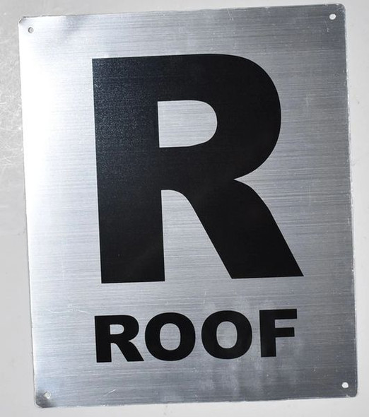ROOF Sign Silver,