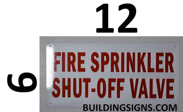 fire sprinkler shut off valve sign