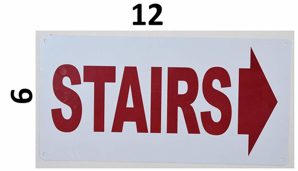 Stairs Right Arrow Signage