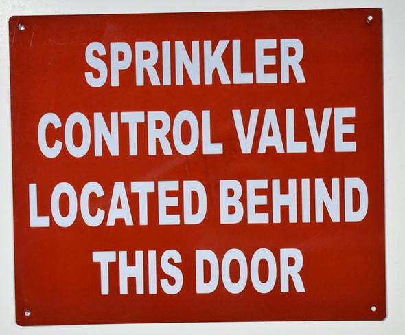Sprinkler Control Valve Located Behind This Door
