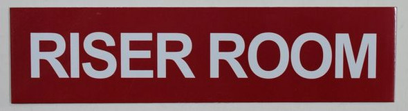 riser room  Sign,Double Sided Tape,