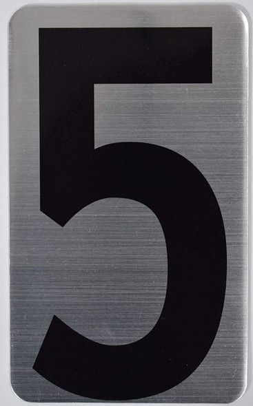 House Number Sign/Apartment Number Sign- Five 5