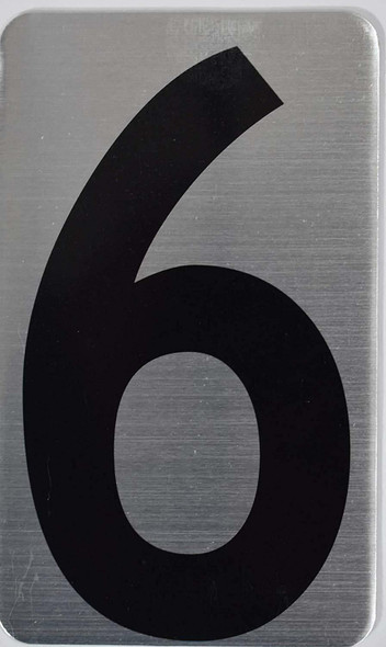 House Number Sign/Apartment Number Sign- SIX 6