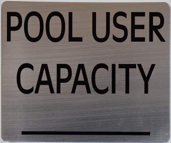 Pool User Capacity Sign