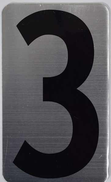 House Number Sign/Apartment Number Sign- Three 3
