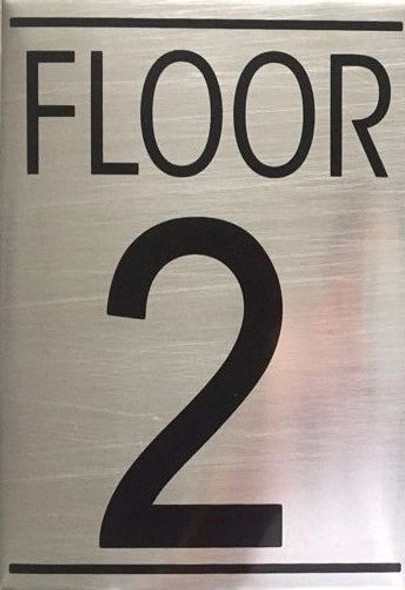 FLOOR NUMBER 2 SIGN