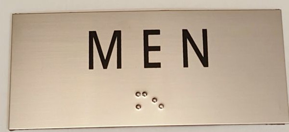 MEN Sign -Tactile Signs    Braille sign