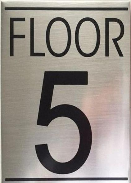 FLOOR 5 SIGN -Delicato line
