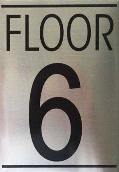 FLOOR SIX 6 SIGN -Delicato line